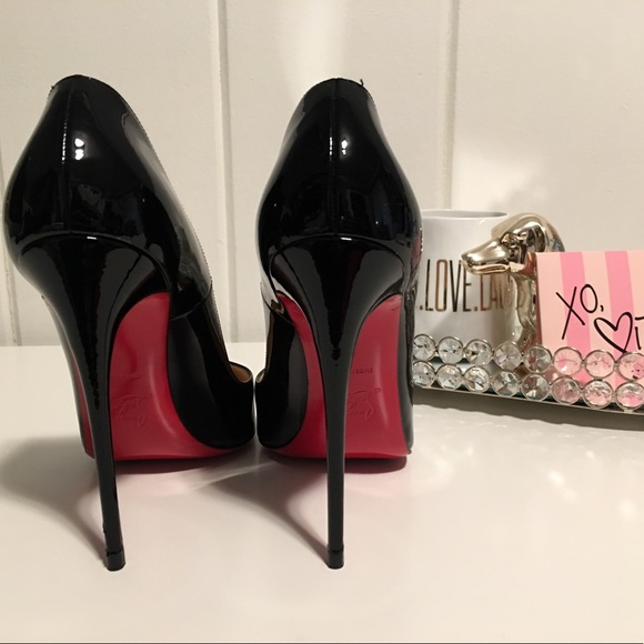 91c33152af1 Christian Louboutin Black Patent 120mm So Kate